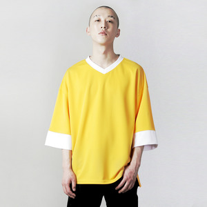 VV-003 V-NECK OVERFIT T-SHIRT YELLOW
